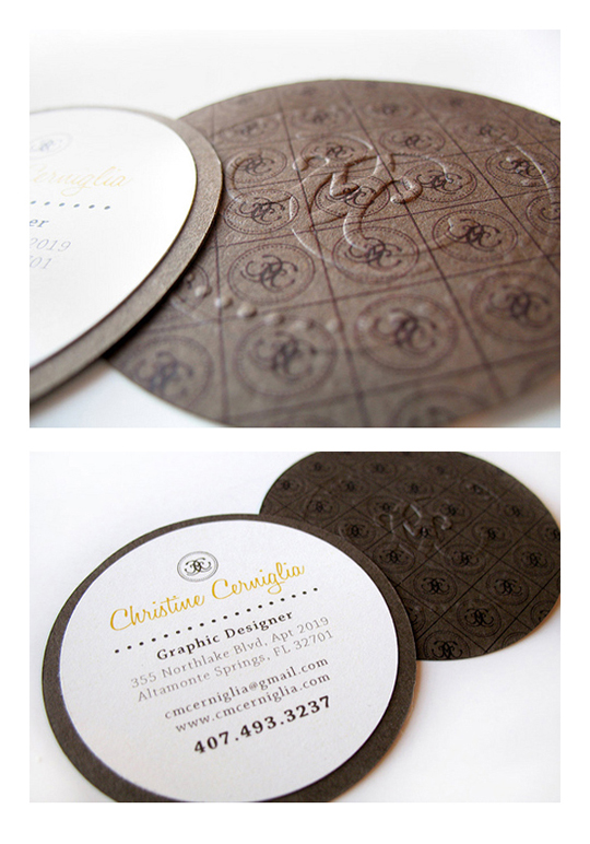 Christine Cerniglia's Graphic Designer Business Card