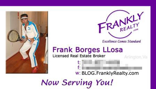 Frankly Realty Business Card Insane Business Cards: Genius or Just Plain Crazy