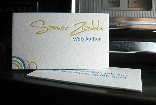 Post image for Samer Ziadeh's Simple Business Card