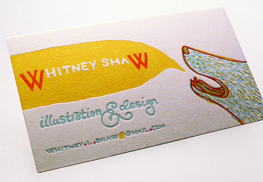 Whitney Shaw's Cute Business Card
