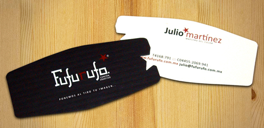 Fufurufo's Die Cut Business Card