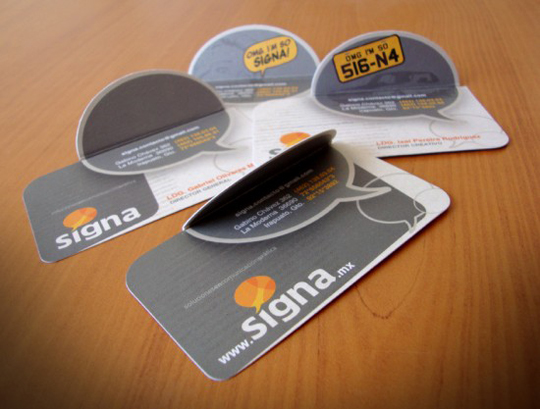Signa. mx's Folding Business Card