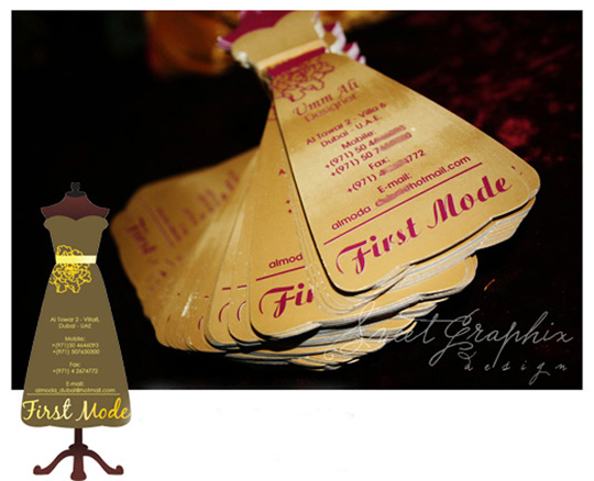First Mode's Die Cut Business Card