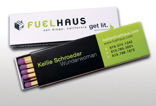 Fuel Haus' Unique Business Card