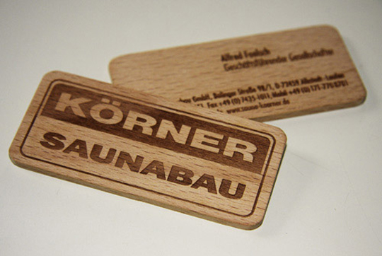 Post image for KÖRNER Saunabau's Creative Business Card