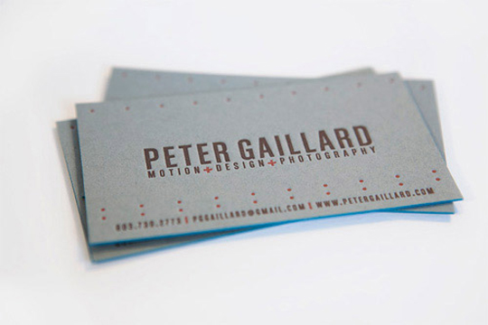 Peter Gaillard's Photography Business Card
