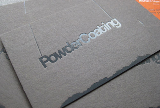 Powder Coating's Creative Business Card
