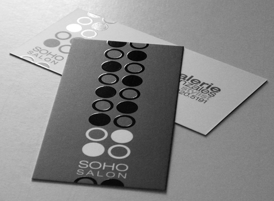 SOHO Salon's Beauty Business Card
