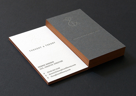 Thought and Theory's Advertising Business Card