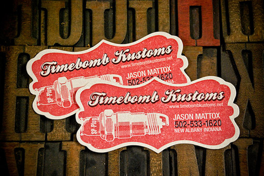 Timebomb Kustoms Graphic Design Business Card