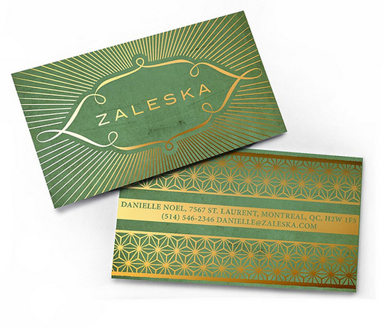 Zaleska's Unique Business Card