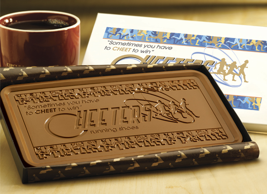 chocolate business card Printing On More Than Paper: Edible Business Cards