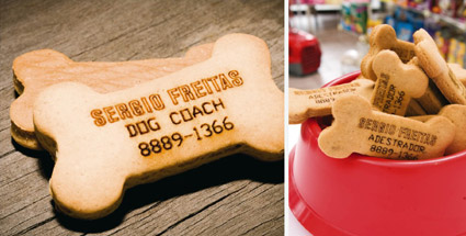 dog cookies Printing On More Than Paper: Edible Business Cards