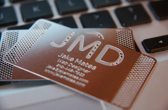 Jake Mates' Metal Business Card