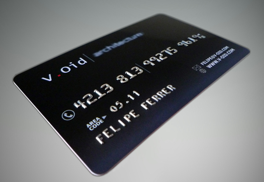 V.Oid's Plastic Business Card
