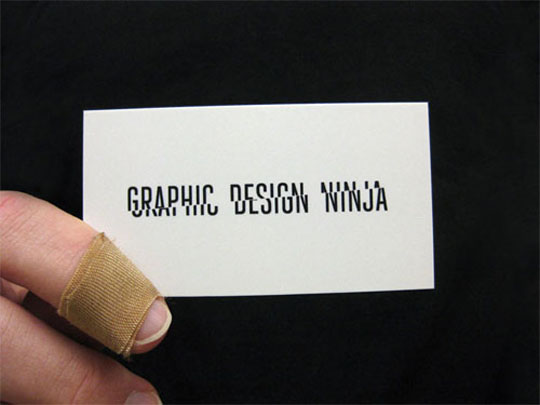 post image for graphic design ninja s creative business card