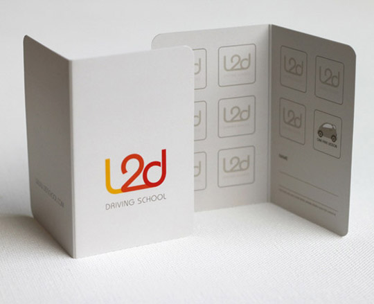 L2D's Folding Business Card