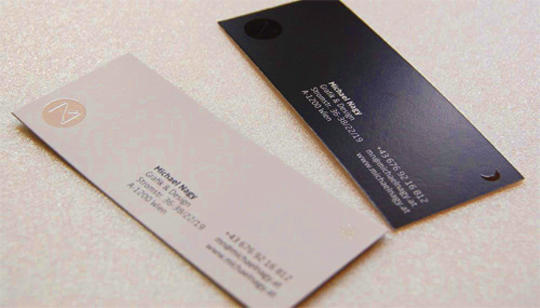 Michael Nagy's Designer Business Card