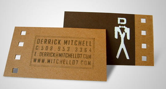 Post image for Derrick Mitchell's Die Cut Business Card