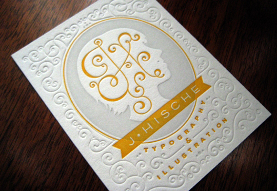 Jessica Hische's Letterpressed Business Card