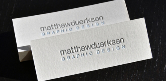 Post image for Matthew Duerksen's Minimalist Business Card