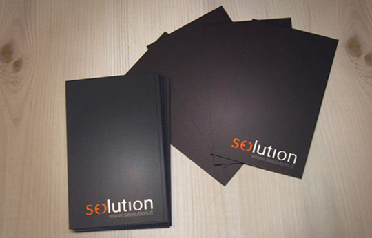 Seolution's Minimalist Business Card