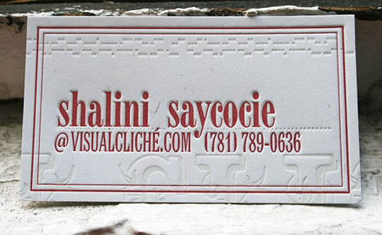 Post image for Shalani Saycocie's Simple Business Card