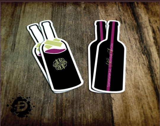 Post image for Sommelier Die Cut Business Card