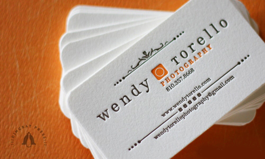 Wendy Torello's Photography Business Card