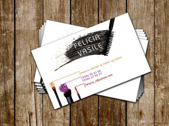 Post image for Felicia Vasile's Beauty Business Card