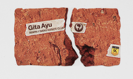 Gita Ayu's Die Cut Business Card