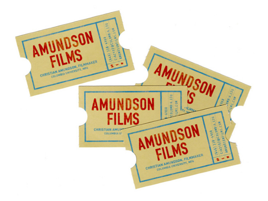 Amundson Films' Die Cut Business Card