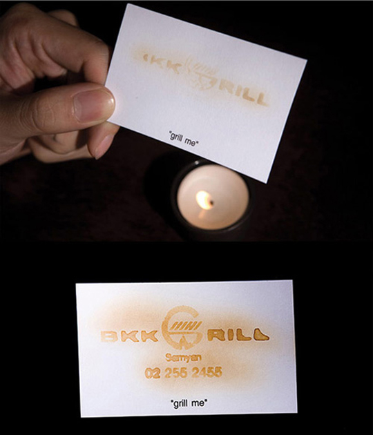 BKK Grill's Unique Business Card