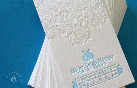 Jessica Leigh Morrisy's Letterpressed Business Card