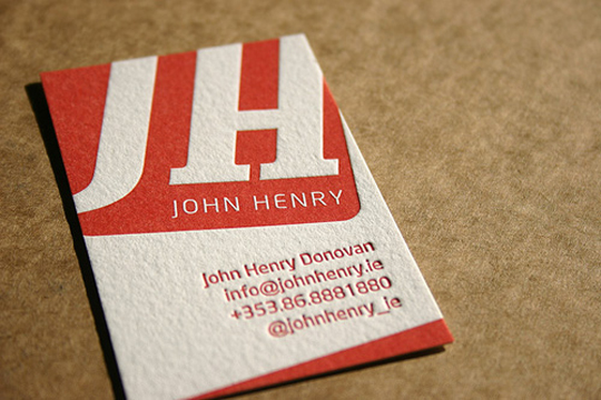 John Henry Donovan's Letterpressed Business Card