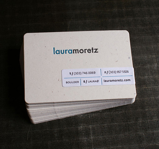 Laura Moretz's Designer Business Card