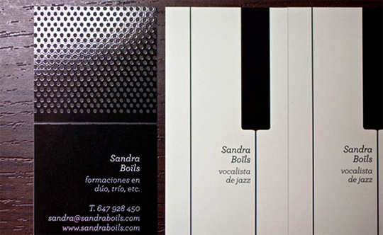Sandra Boils' Music Business Card