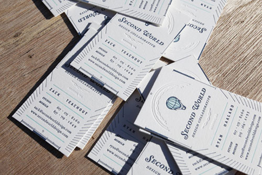 Second World's Designer Business Card