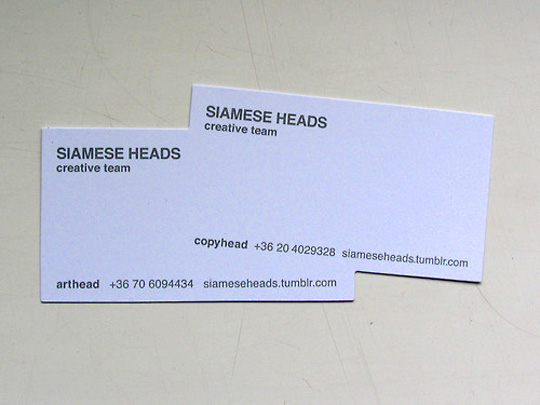 Post image for Siamese Head's Creative Business Card
