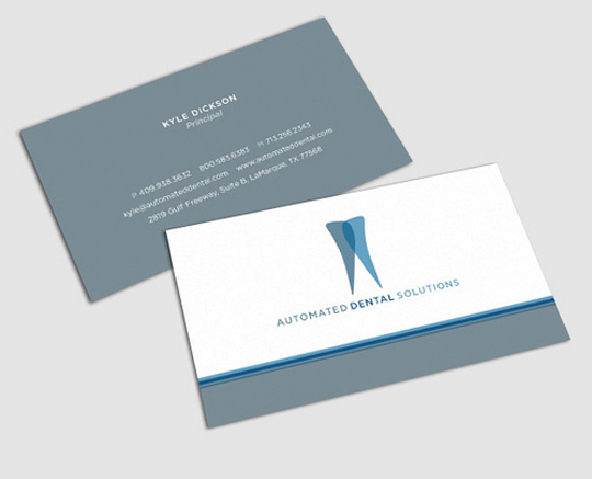 Creative Dentist Business Cards (6 total)