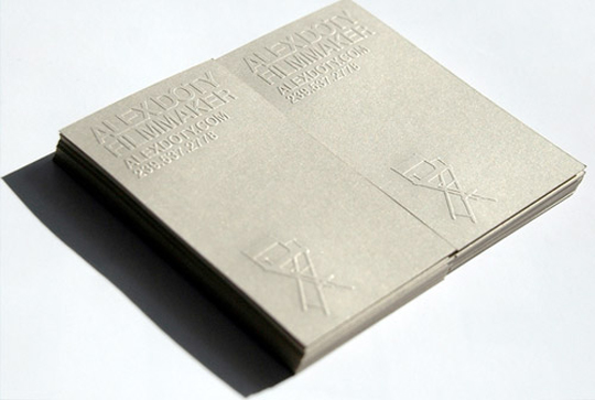 Alex Doty's Embossed Business Card