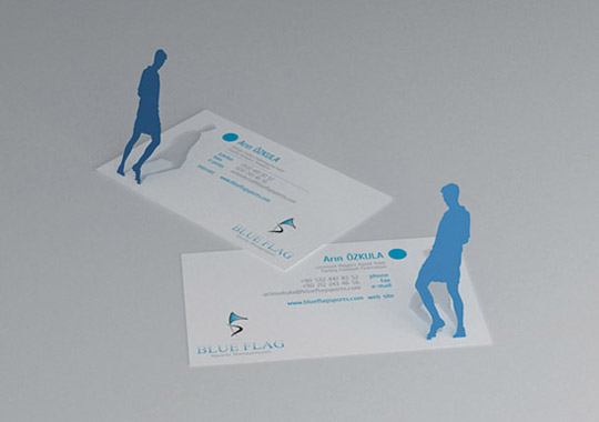 Blue Flag's Die Cut Business Card