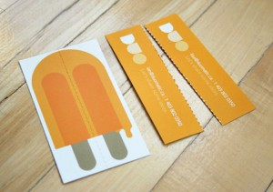 Duo Business Card Popsicle style 300x211 Best of Business Card 2010