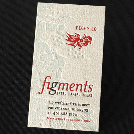 Figments' Textured Business Card