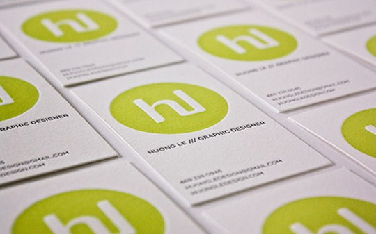 Huong Le's Grapic Designer Business Card