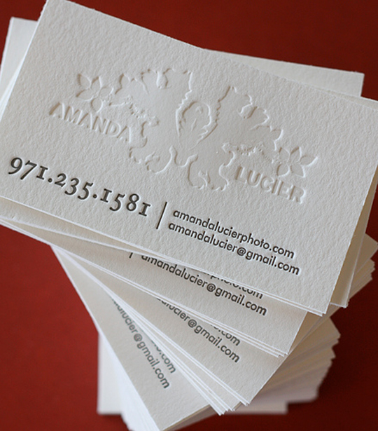 Amanda Lucier's Photography Business Card