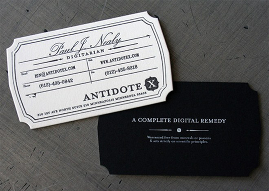 AntidoteX's Die Cut Business Card