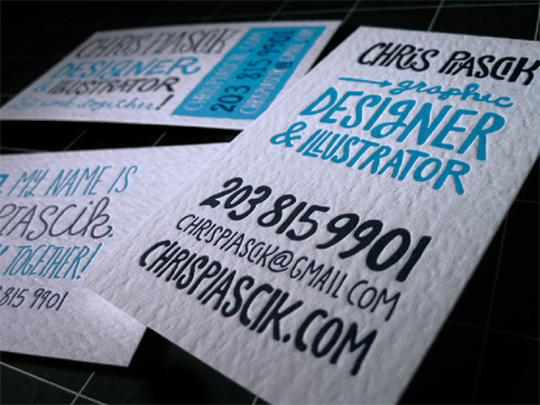 Chris Piascik's Cute Business Card