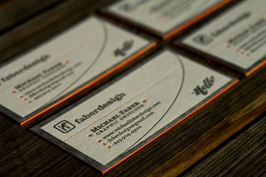 Post image for Michael Faber Design's High Quality Business Card