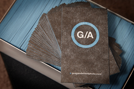 Greg Anderson's Photography Business Card